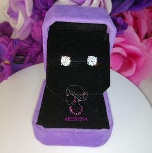 Areshna Jewelry - 1ct Lab Diamond Stud Earrings